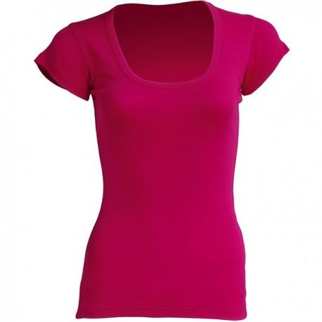 T-shirt femme - Col échancré - 8 coloris