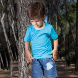 T-shirt bébé uni 100% coton - Manches courtes - 16 coloris