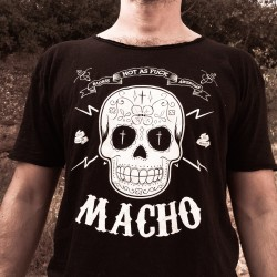 "T-shirt ""MACHO"" - 100% coton - Manches courtes"