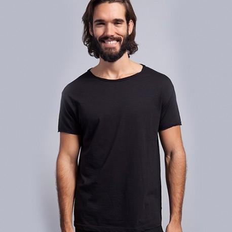 T-shirt uni mode 100% coton - Manches courtes - Homme - 2 coloris