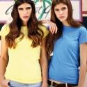 T-shirt femme uni 100% coton - Manches courtes - 22 coloris