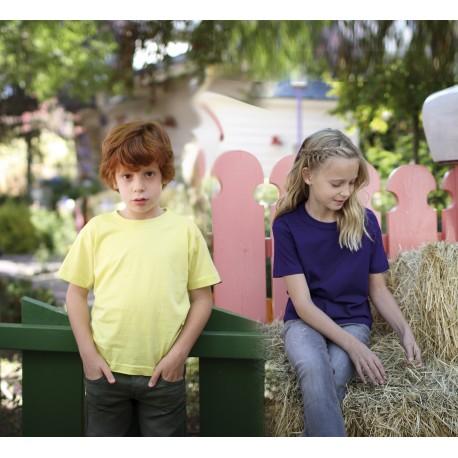 T-shirt enfant uni 100% coton - Manches courtes - 23 coloris