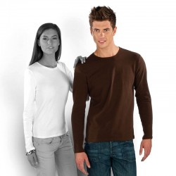 T-shirt uni 100% coton - Homme - Manches longues - 8 coloris