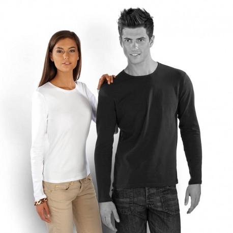 T-shirt uni 100% coton - Femme - Manches longues - 4 coloris