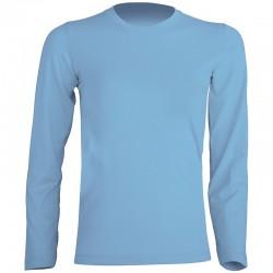T-shirt enfant uni 100% coton - Manches longues - 11 coloris